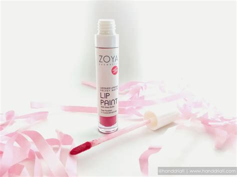 Zoya Lip Paint Matte Lipstick review zoya cosmetics lip paint lacquer lipstick velvet