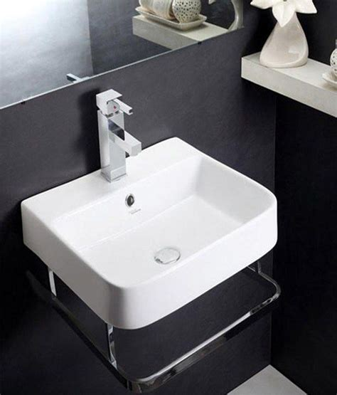 Bathrooms Tiles Designs Ideas buy hindware wash basin element with towel rail white