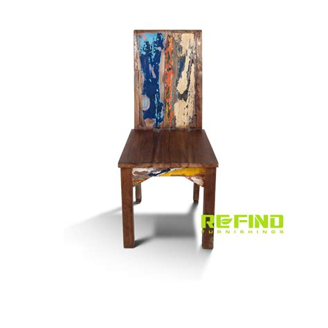 boat dining chairs reclaimed boat wood dining side chair indonesian