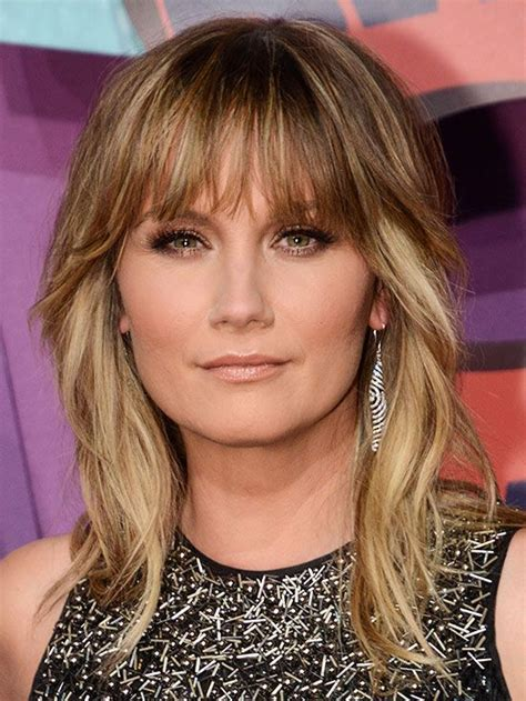wavy hairstyles mid length with feathered bangs and sides 17 best images about hair medium on pinterest shoulder