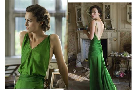 The Keira Knightley Slip That Almost Was by In Wardrobe With Keira Knightley S Green Slip Dress The