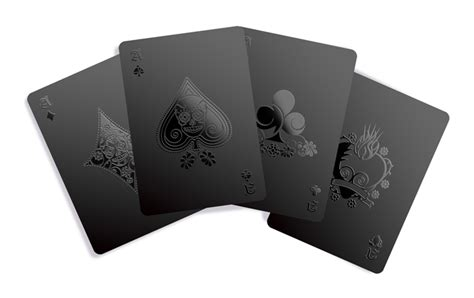 Black Cards - monochromatic deck of cards available at gentsupplyco