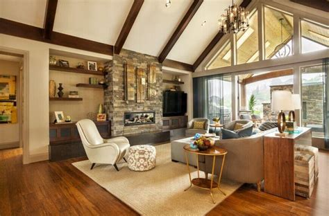 vaulted ceiling with exposed beams 32 spectacular living room designs with exposed beams