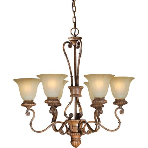 Rustic Candle Chandelier Shop Shandy 28 In 6 Light Rustic Tinted Glass Candle Chandelier At Lowes
