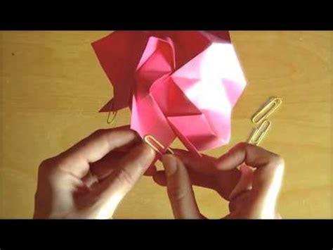 tutorial origami youtube origami rose tutorial part 2 youtube
