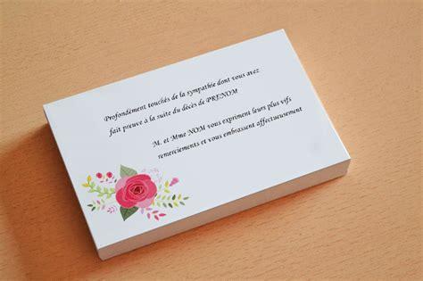 carte de remerciement d 233 c 232 s pas ch 232 re mod 232 le gratuit deuil