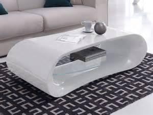 table basse design en verre longueur 130cm hayle blanc