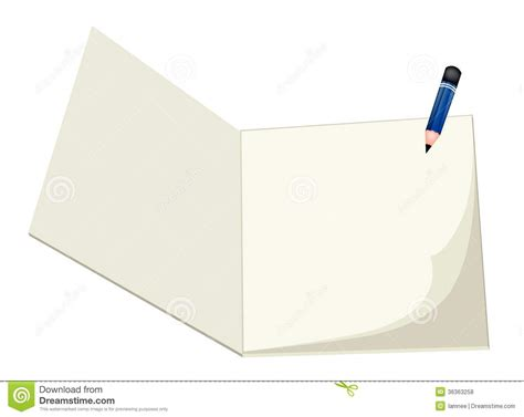 sketchbook and pencils a pencil lying on a blank sketchbook royalty free stock