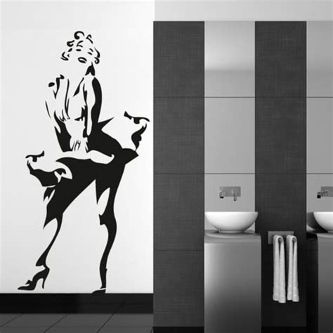 marilyn stickers for walls wall chimp marilyn standing wall sticker