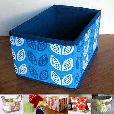 diy fabric storage box with a handle shelterness fabric basket and bin tutorials earth daily
