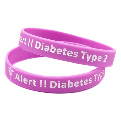 Lots And Lots Of Bangles 2 2 by 50pc Lot Alert Type 2 Diabetes Silicone Wristband