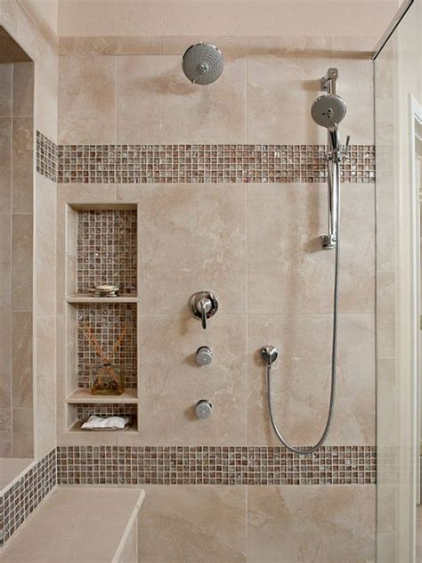 bathroom tiled showers ideas niche awesome shower tile ideas make perfect bathroom