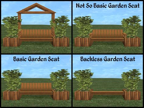 Sims 3 Planter Box by Mod The Sims Anywhere Garden Seats