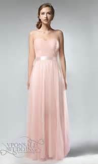 elegant strapless sweetheart neckline long pastel pink