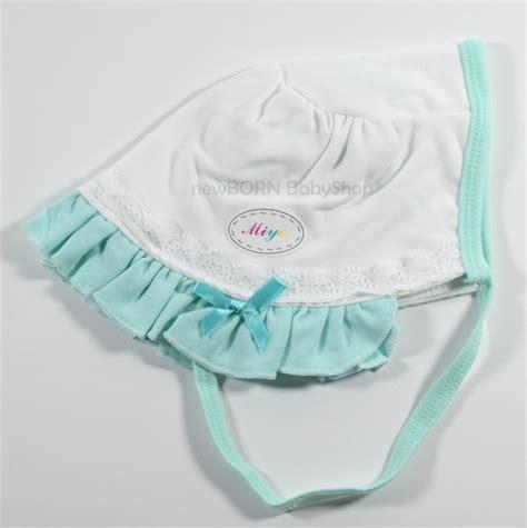 Topi Newborn Miyo White jual miyo topi newborn tali putih renda warna newborn babyshop