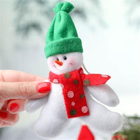 plush snowman christmas ornament christmas ornaments