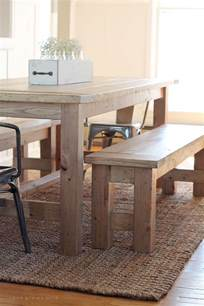 Farmhouse Dining Table With Bench Diy Farmhouse Bench Grows