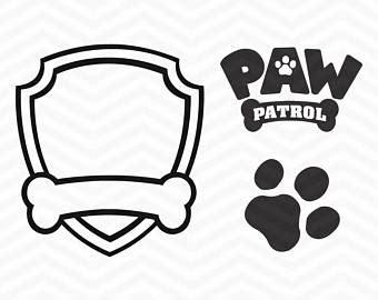 Paw Patrol Logo Etsy Paw Patrol Birthday Shirt Template