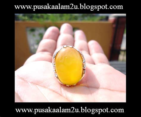 Cincin Batu Akik Kuning pusaka alam ghaib dan mistik cincin akik kuning