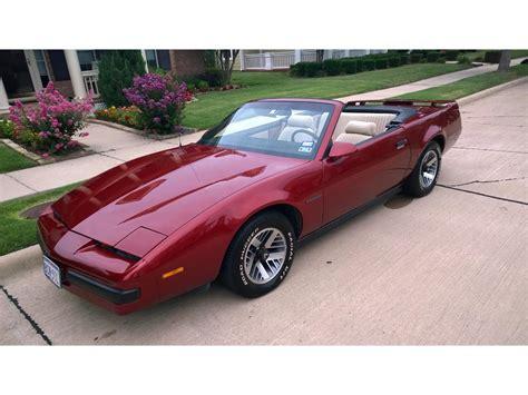 how to learn about cars 1989 pontiac firebird interior lighting 1989 pontiac firebird for sale classiccars com cc 1053188