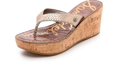 Wedges Selop Cv 05 Gold lyst sam edelman romy wedge sandals light gold in