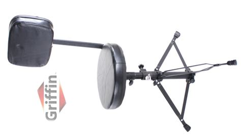 Drum Stool With Back drum throne with back rest support stool chair seat piano keyboard griffin ebay