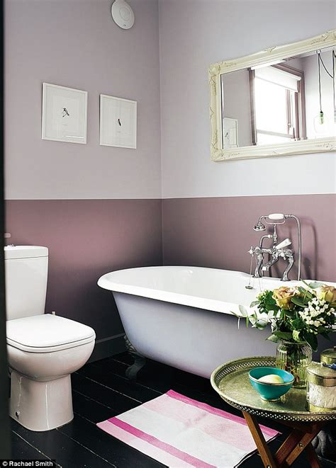 two tone paint bathroom walls interiors moody hues remix daily mail online