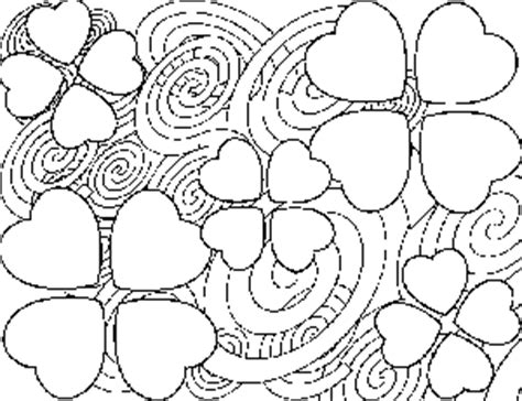 obstract heart colouring pages