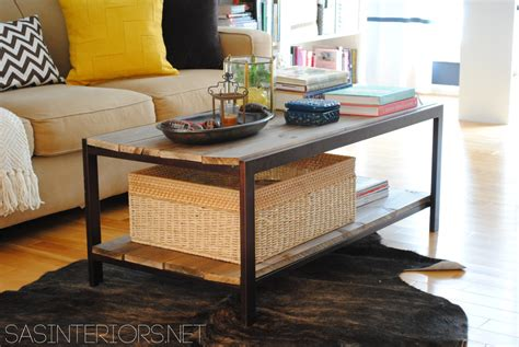 Diy Modern To Industrial Style Coffee Table Jenna Burger Diy Wood Coffee Table