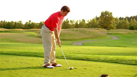 golf swing hitting the ground golf swing stock footage video 66910 shutterstock