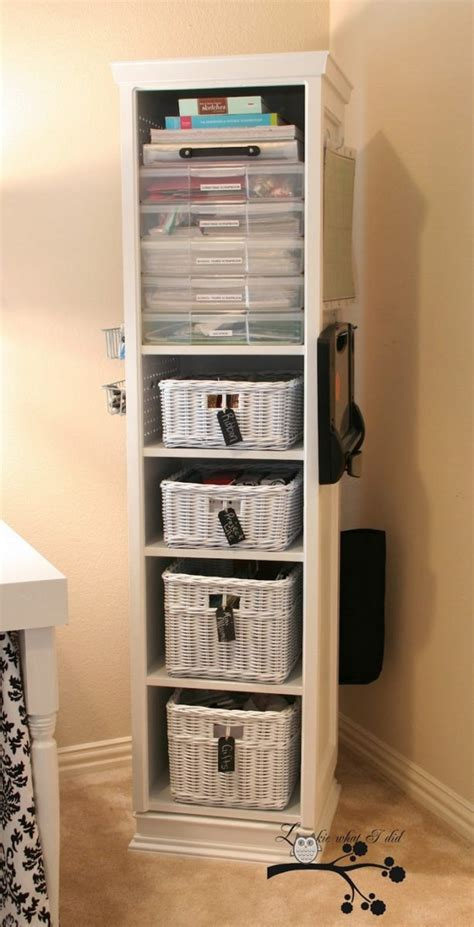 build  space saving swivel storage cabinet diy storage