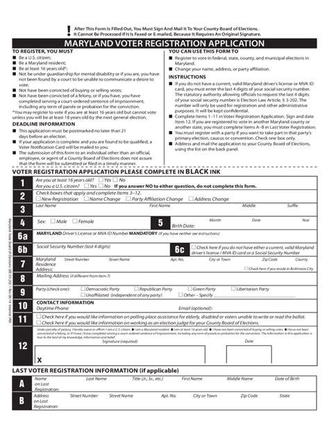 voter registration form voter registration form 10 free templates in pdf word