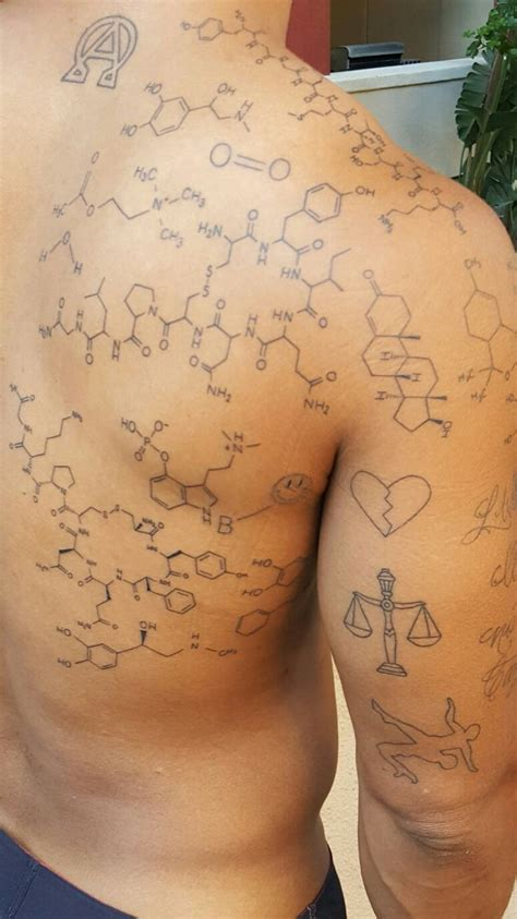 caffeine tattoo 1000 ideas about molecule on serotonin