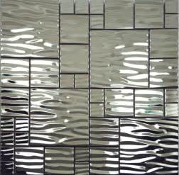 Kitchen Wall Panels Backsplash Silver Metal Mosaic Stainless Steel Kitchen Wall Tile