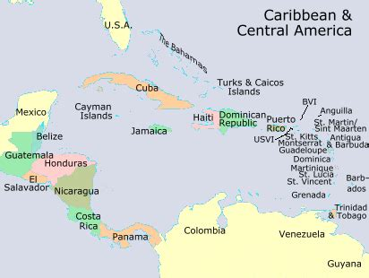 central america the caribbean map 302 found