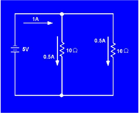three 10 ohm resistors are connected in parallel to a 12 v battery resistance in a parallel circuit