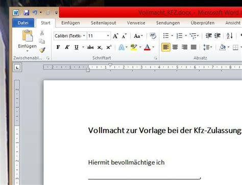 Motorrad Verkauf Abmeldung by Vollmacht Kfz F 252 R Word Vorlage Download Chip