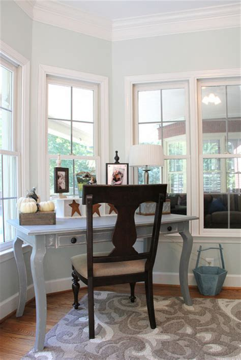 Windows Home Office Serene Sunroom Eclectic Home Office Birmingham By