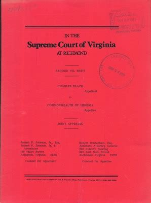 Commonwealth Of Virginia Court Search Virginia Supreme Court Records Volume 223 Virginia Supreme Court Records