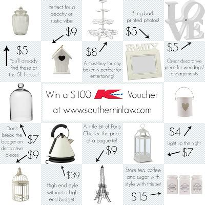 Kmart Giveaway - southern in law giveaway win a 100 kmart voucher