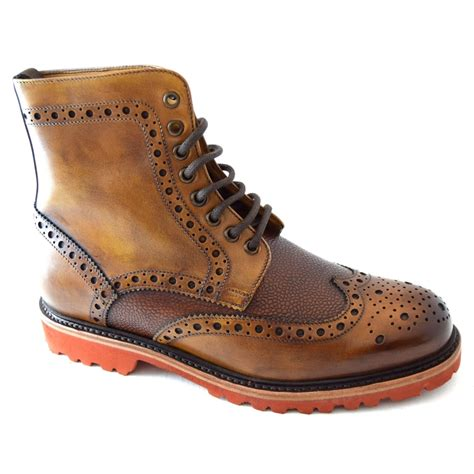 berwick mens brogue boot mens footwear from wj