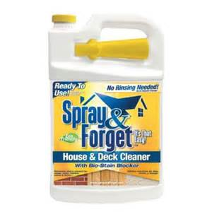 deck cleaner home depot spray forget 1 gal house and deck cleaner sfhd1grtu