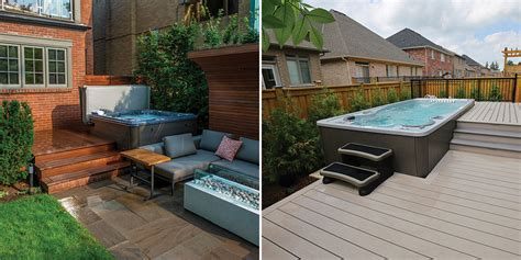 hot tub swim spa landscaping ideas bradys pool spa