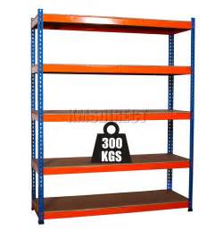 Garage Shelving Units Heavy Duty 5 Tier Boltless Blue Orange Garage Storage