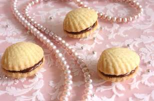 Seashell Shaped Cookies Cherry On A Cake Shortbread Cookie Shells