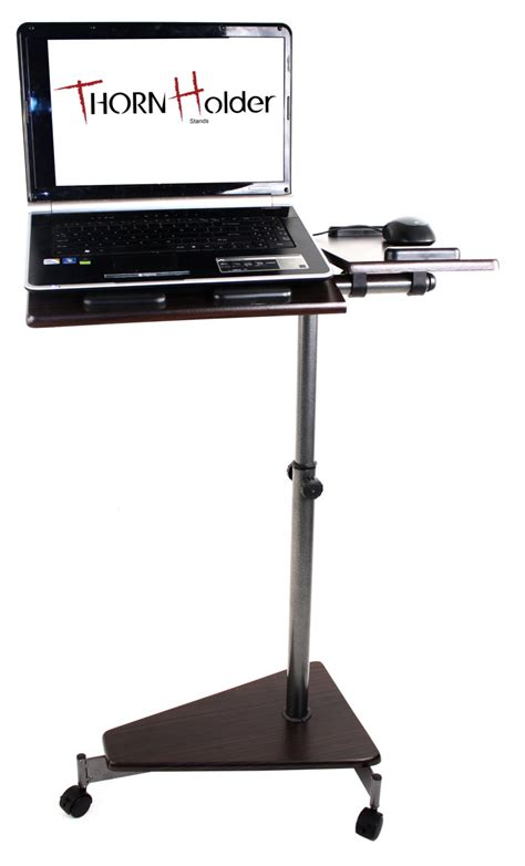 portable computer table laptop computer pc rolling table stand av cart portable mobile w wheels casters