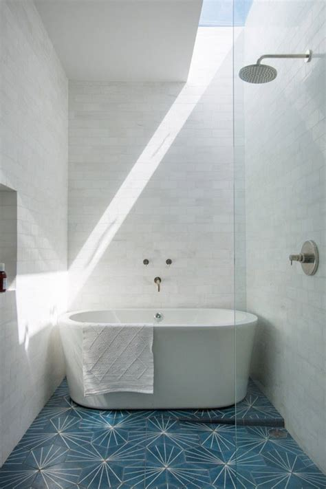 white and blue tiles in bathroom 36 blue and white bathroom floor tile ideas and pictures