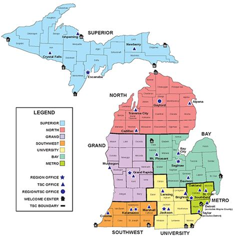 mdot construction map how many regions or districts does your state s dot or