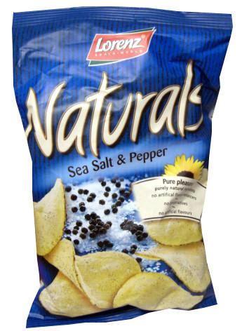 Lorenz Chips Seasalt 100gr naturals sea salt and pepper chips lorenz 3 5 oz 100g
