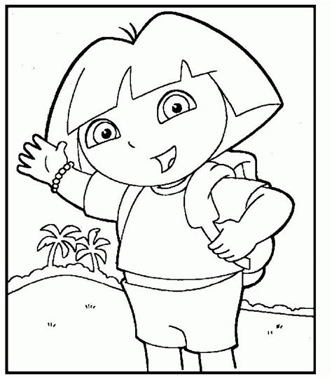 Dora The Explorer Coloring Page Coloring Home Explorer Coloring Pages